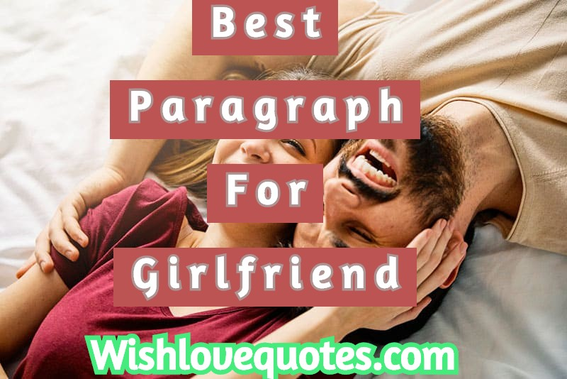 paragraph for girlfriend