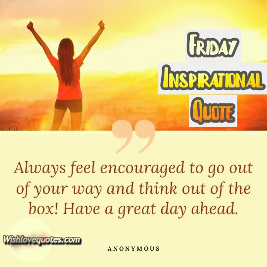 Friday Inspirational Quotes